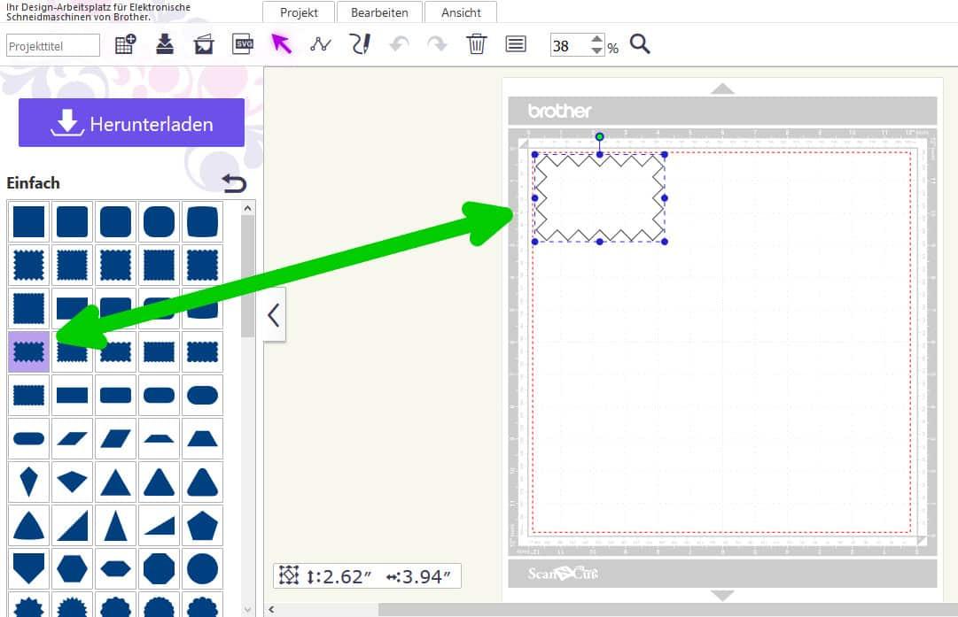 Brother Plotter DC100: Erste Schritte – Einfaches Muster erstellen ...