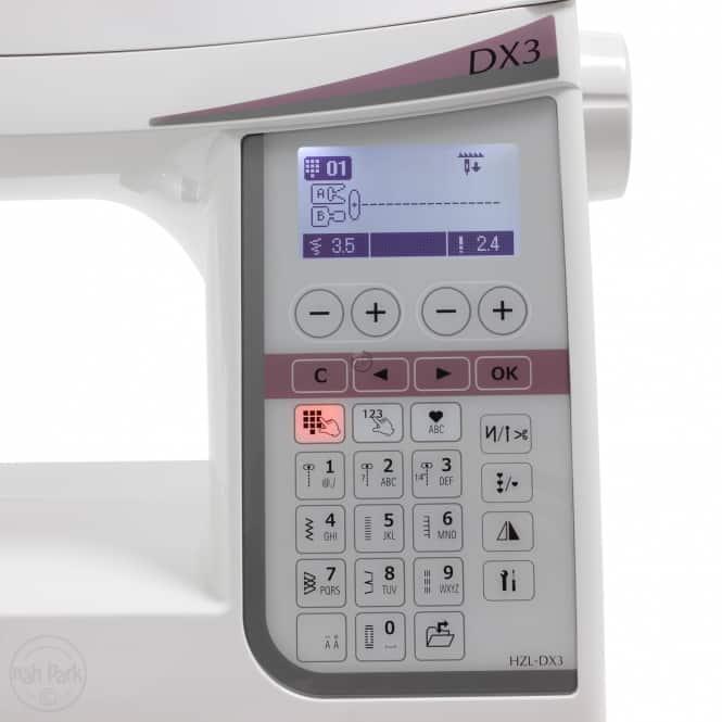 juki-naehmaschinentest-DX3-Softtouchtasten