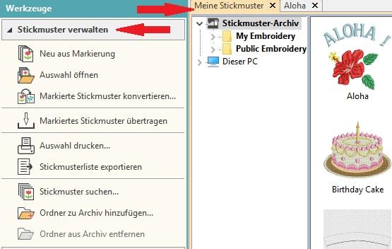 Stickmuster verwalten mit der Hatch Sticksoftware | Ratgeber