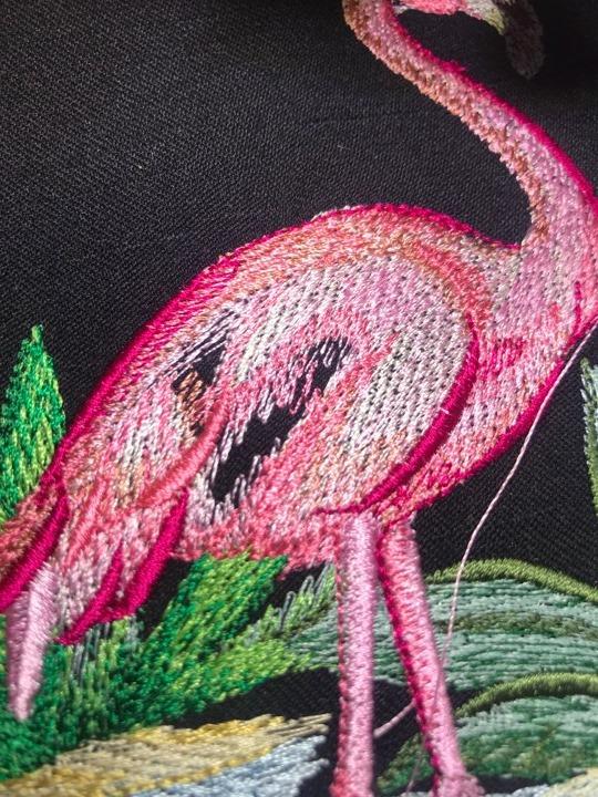Flamingo Stickdatei Lücke
