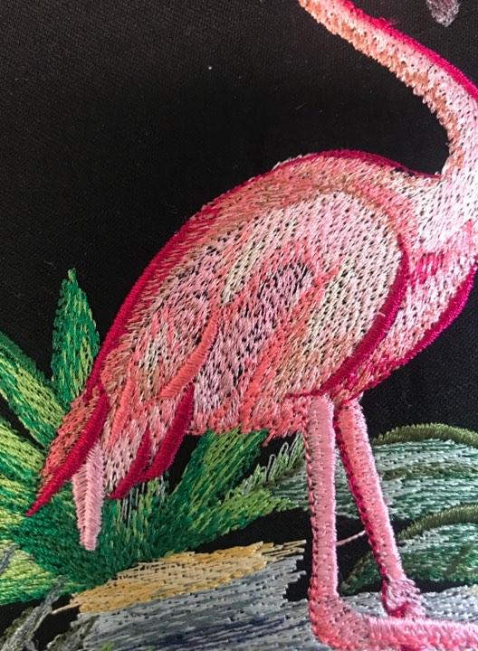 Flamingo Stickdatei korrigiert