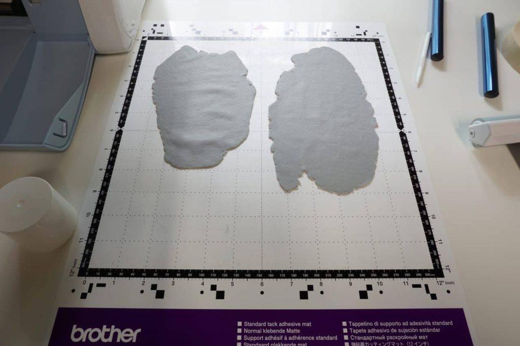 Tutorial Umschlagtasche Fimo Leather Effect Foil Quill Hohlsaumvorrichtung (2)