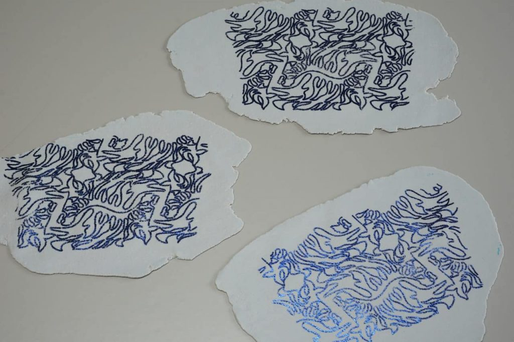 Tutorial Umschlagtasche Fimo Leather Effect Foil Quill Hohlsaumvorrichtung (5)