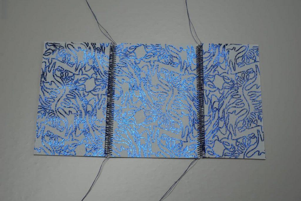Tutorial Umschlagtasche Fimo Leather Effect Foil Quill Hohlsaumvorrichtung (7)