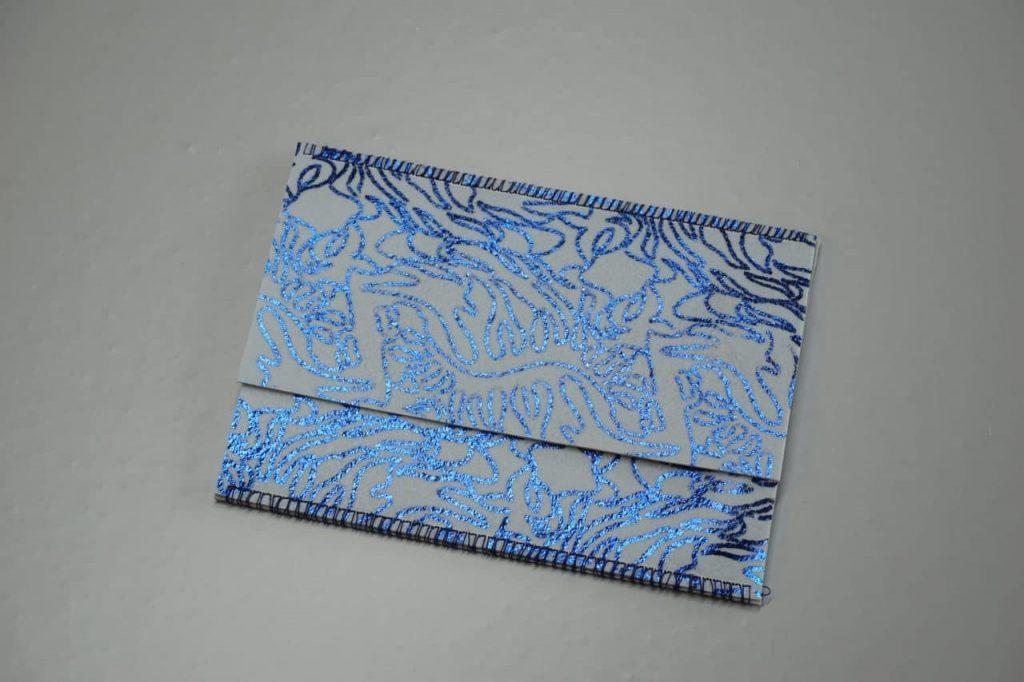 Tutorial Umschlagtasche Fimo Leather Effect Foil Quill Hohlsaumvorrichtung (8)