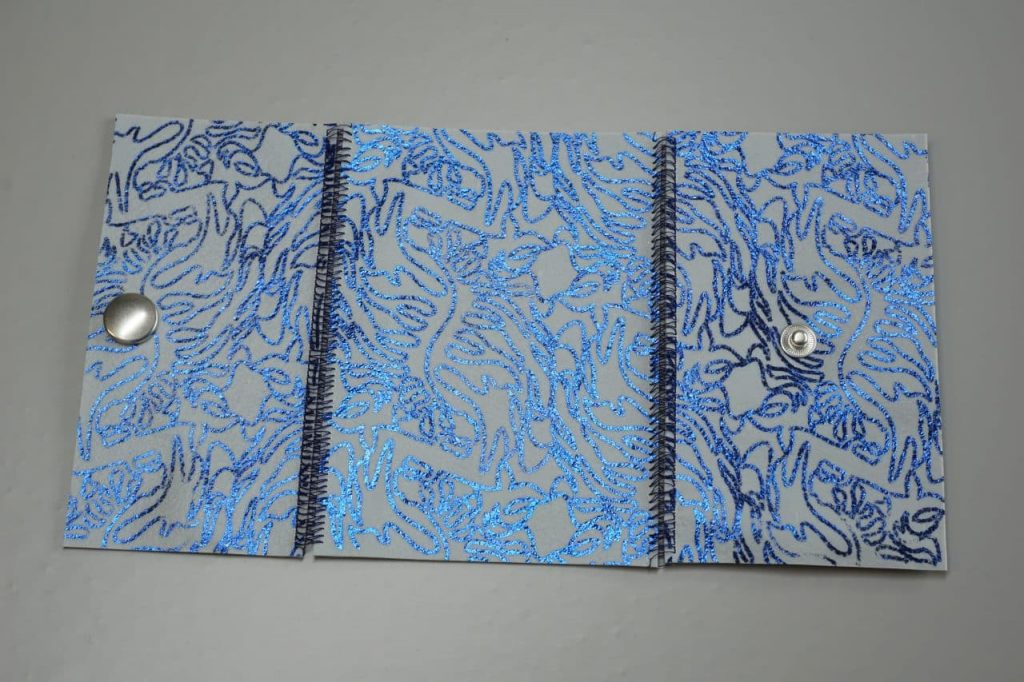 Tutorial Umschlagtasche Fimo Leather Effect Foil Quill Hohlsaumvorrichtung (9)
