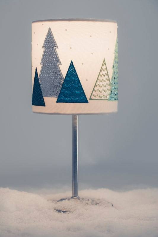 Stickdatei Folie Weihnachten Lampe