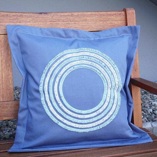 Kissen mit Steg und Bettwäsche-Reißverschluss nähen
