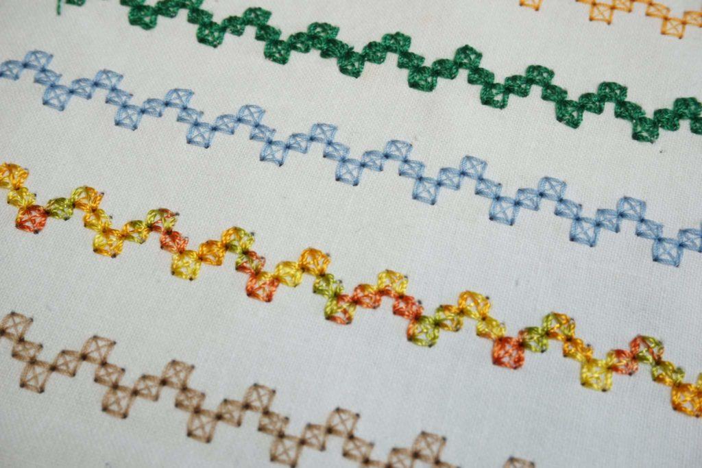 Verschiedene Ziergarne im Vergleich zu Deco Stitch