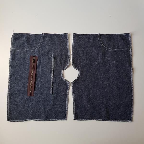 Vorderteile Jeans Reißverschluss