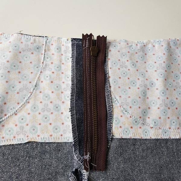 Jeans Vorderhose linke Seite