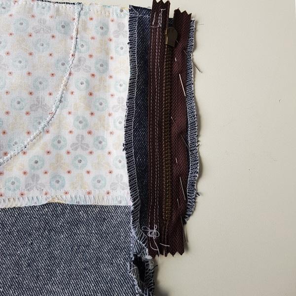 Reißverschluss Jeans Beleg rechts