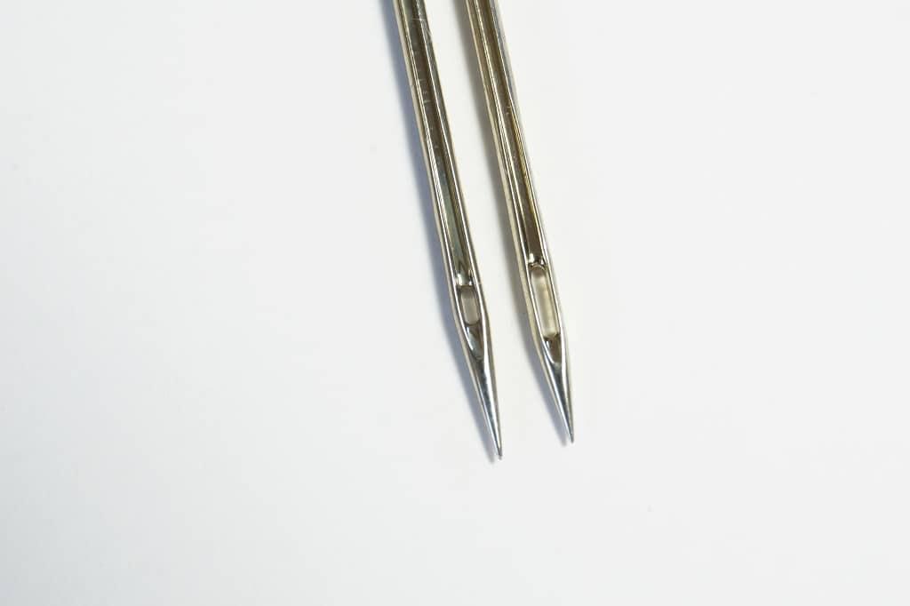 Nadelspitzen im Vergleich