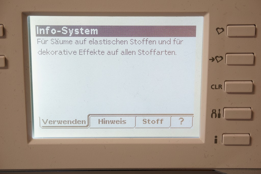 Husqvarna Viking s25 Infosystem Display