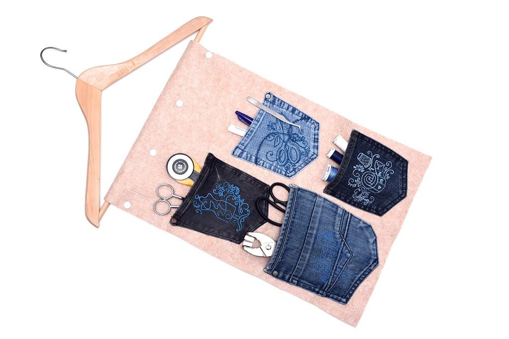 Hängeutensilo Jeanshosentaschen