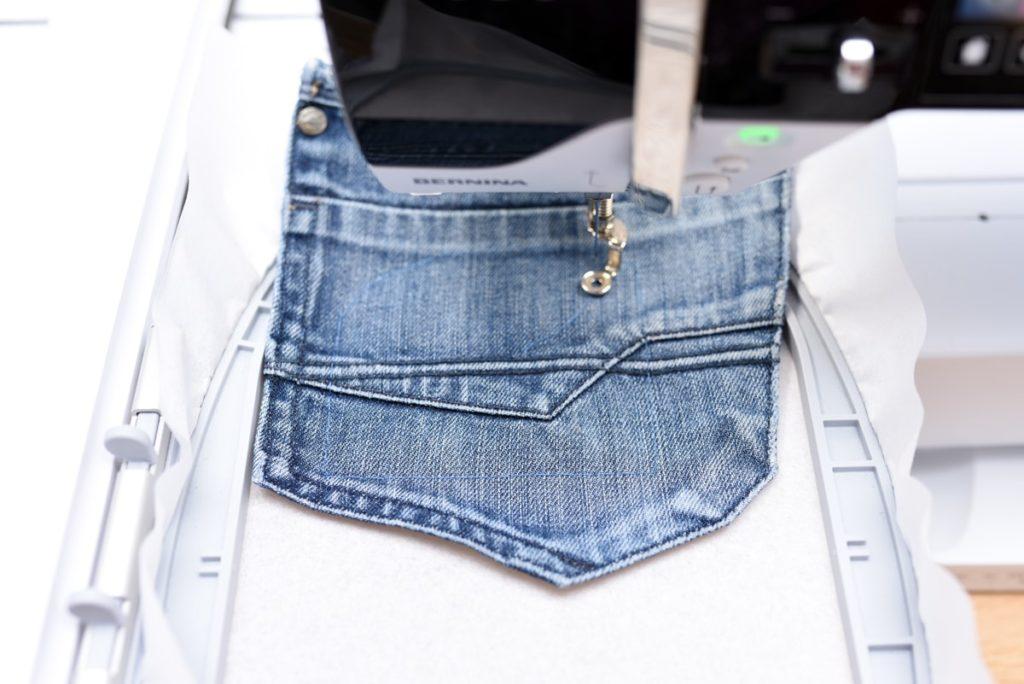 Jeanshosentaschen besticken