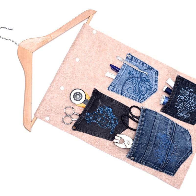 Hängeuntensilo Jeanshosentaschen