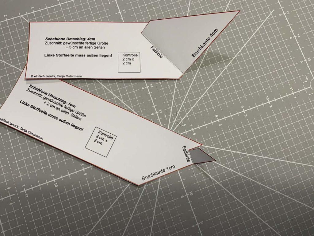 Schablone für Briefecken