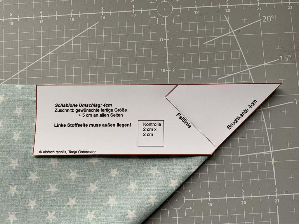 Briefecke 1 cm Schablone
