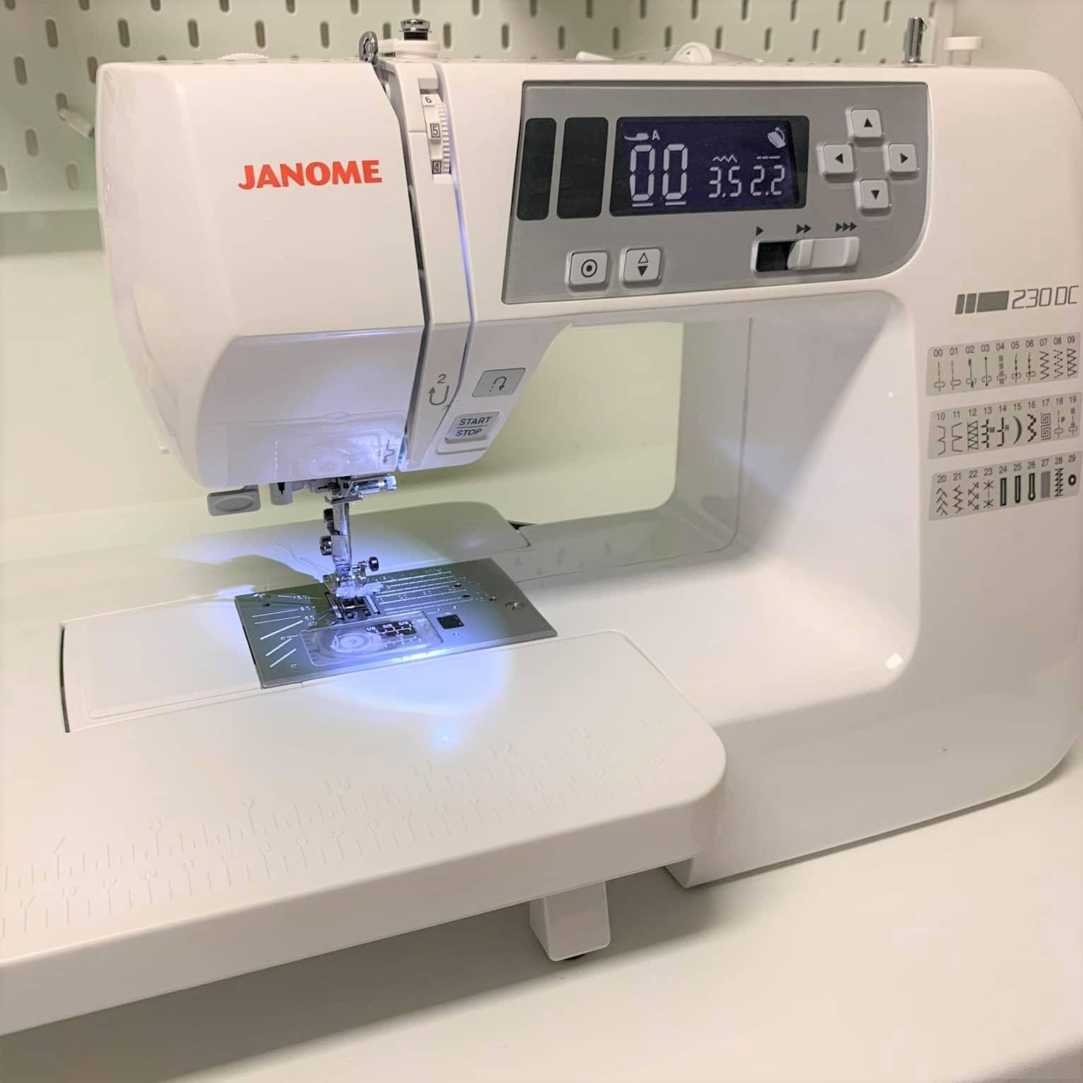 Die JANOME 230 DC im Test bei der Redaktion