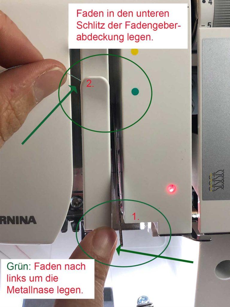 Bernina L460 Nadel einfädeln