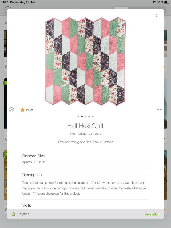 Half Hexi Quilt Design Space