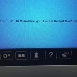 Error 1010 Bernina Bluescreen