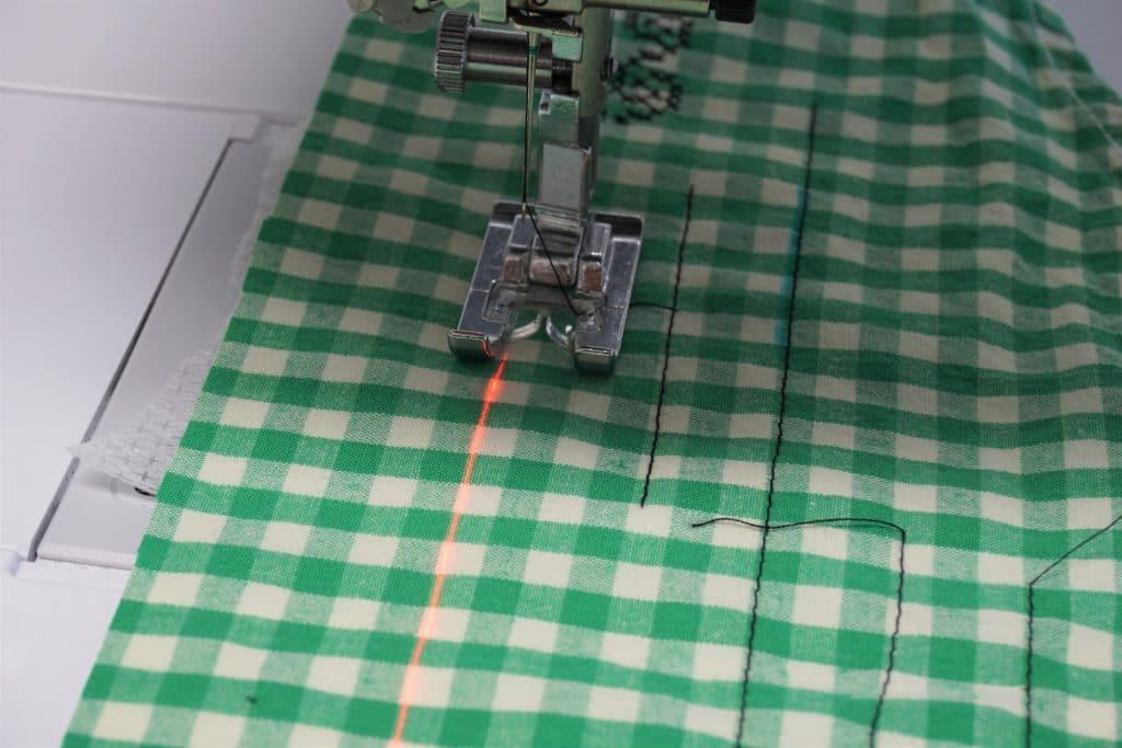 Laserlinie anpassen
