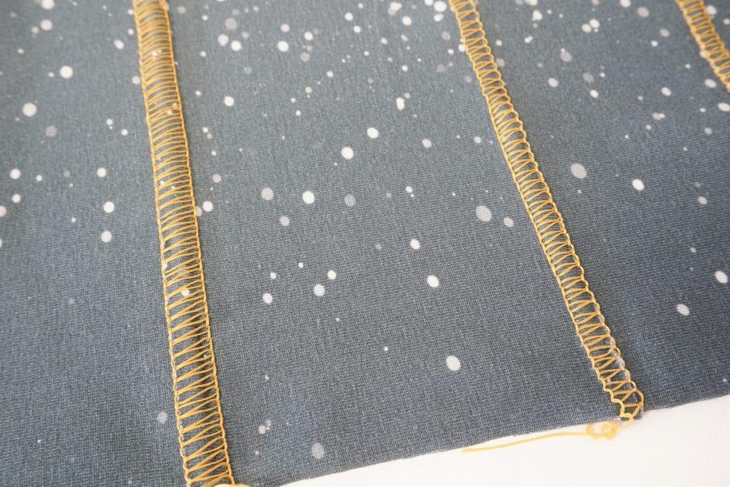 2-Faden-Flachnaht breit und schmal
