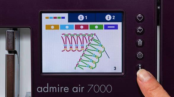 Pfaff Admire Air 7000 Display
