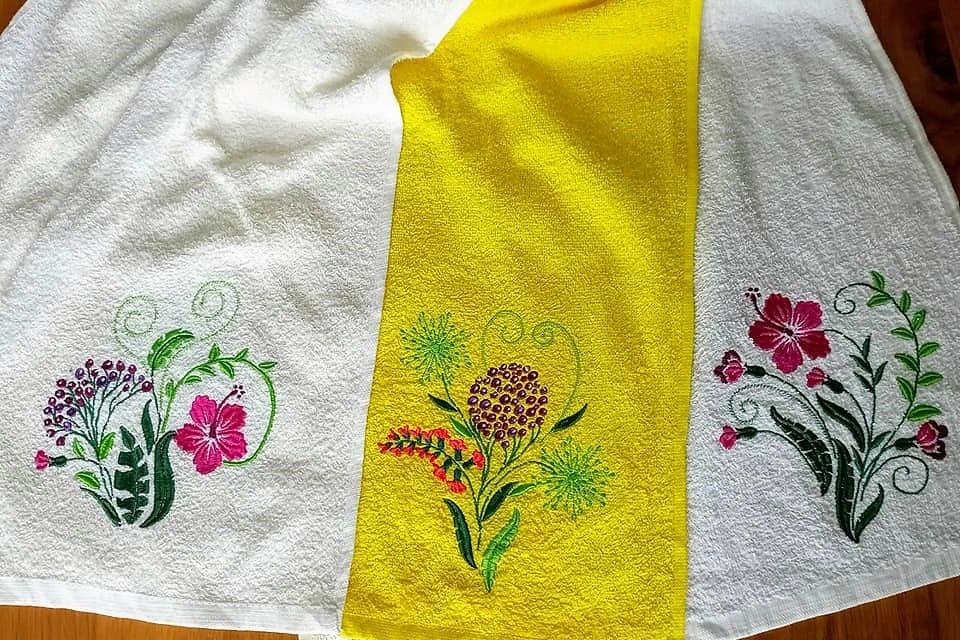 Stickdatei auf Handtüchern