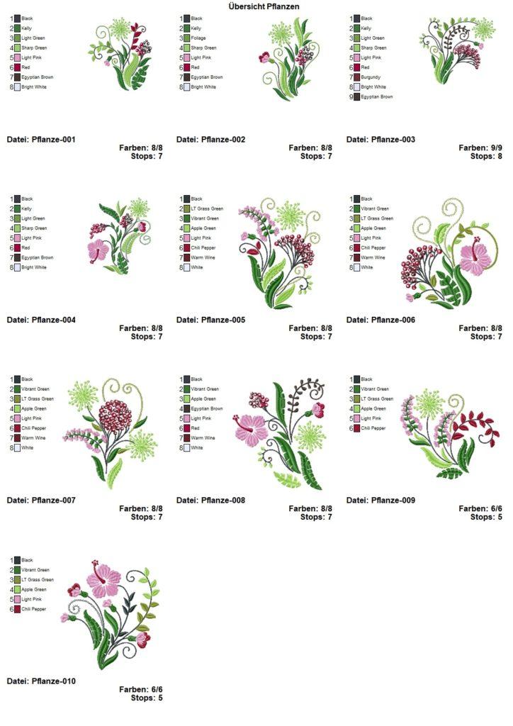 Stickdatei Pflanzen