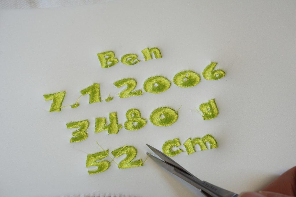 3D-Schrift Stickschaum
