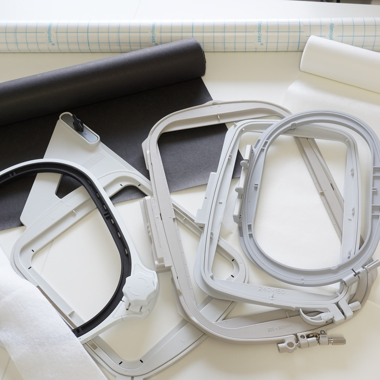 Stoff und Stickvlies richtig in den Stickrahmen einspannen