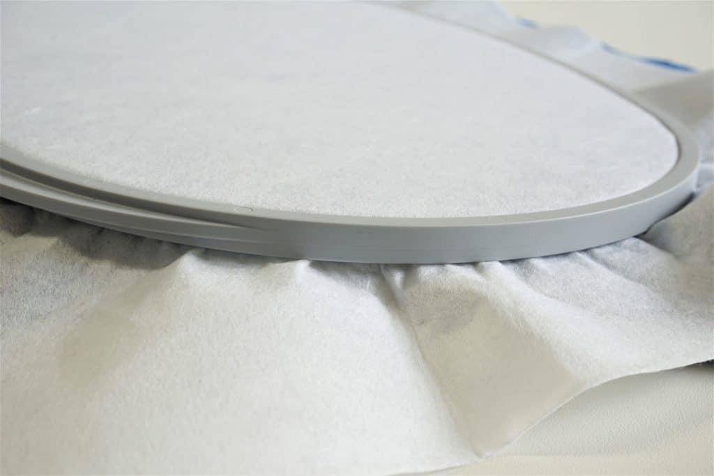Ovaler Rahmen Rückseite