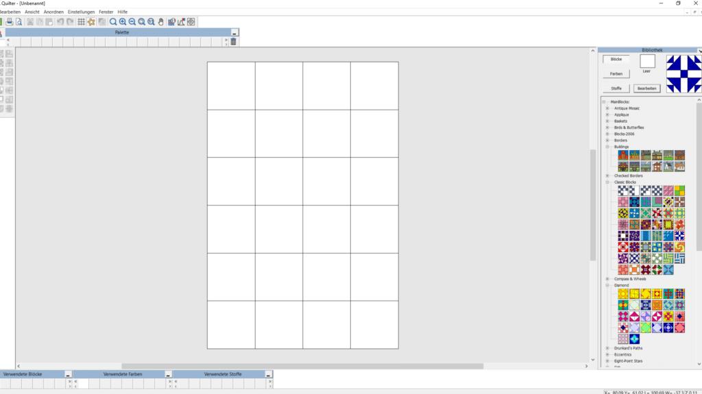 Bernina Designer Plus Quilter Anwendung