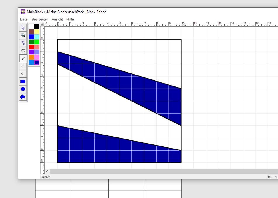 Block erstellen Farben einfügen