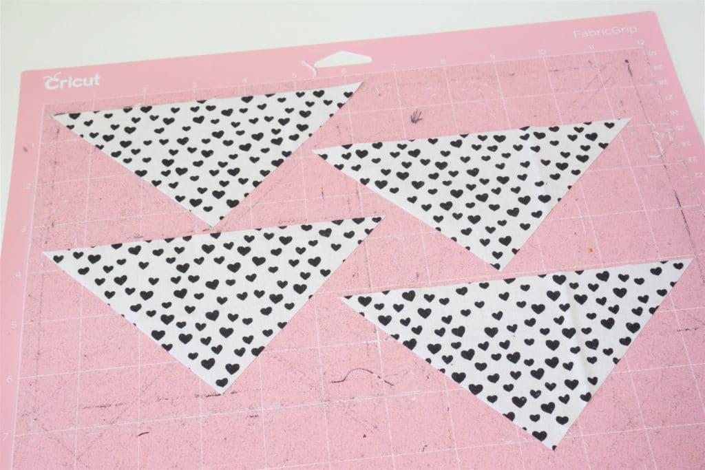 Patchwork Dreiecke rosa Matte