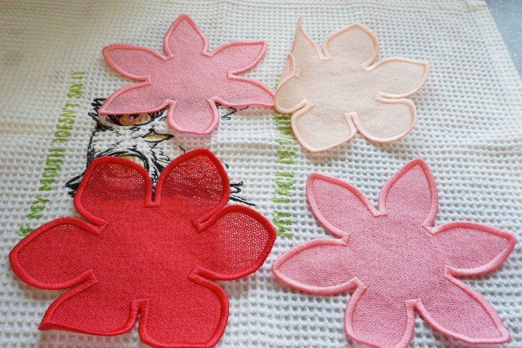 Freestanding Lace ausgewaschen