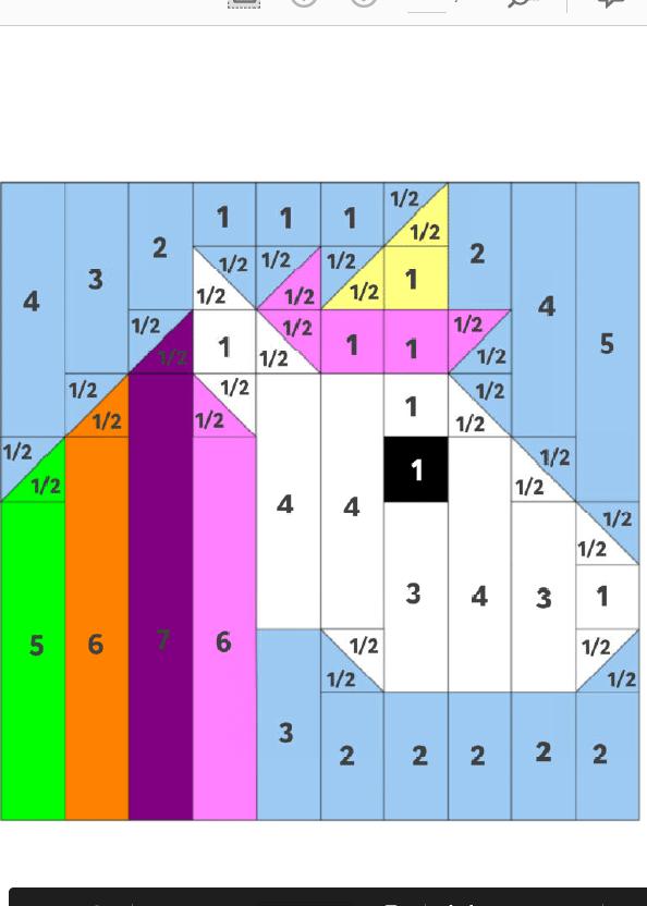 Patchwork Einhorn Nummerierung