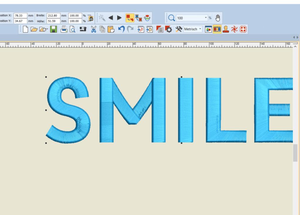 Schriftzug erstellen V8