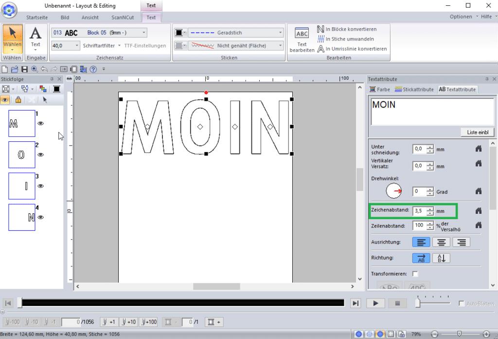 PE-Design 11 Text erstellen