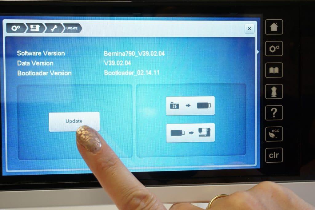 Bernina Software Update ausführen