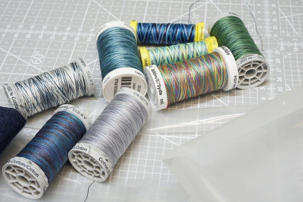 Stickgarne Multicolor