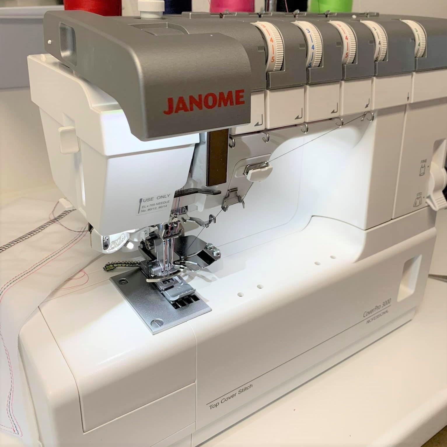 Die JANOME Cover Pro 3000P im Test bei der Redaktion – Teil 1