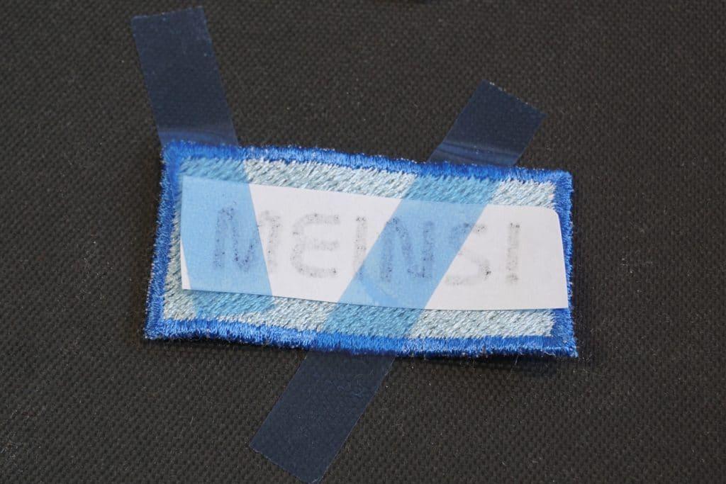 Sublimation auf Stickerei